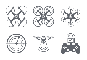 Set of Drone Camera Technology icon