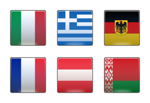 Set of vector flag countries