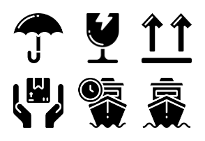 Shipping & Delivery - Glyph