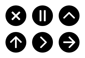 Simple Circular Icons: Filled