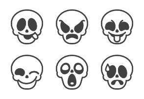 Skull emotions