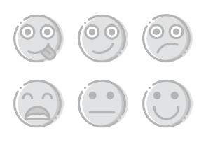 Smashicons Emoticons - Greyscale - Vol 4