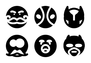 Smashicons Emoticons MD - Solid - Vol 3