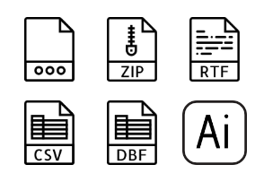 Smashicons File Types - Outline