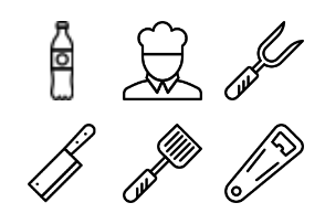 Smashicons Gastronomy 2 - Outline - Vol 2