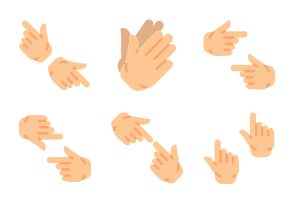 Smashicons Hand Gestures - Flat - Vol 4