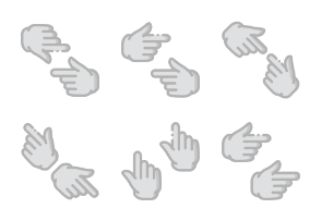 Smashicons Hand Gestures - Greyscale - Vol 2