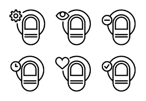 Smashicons Hand Gestures - Outline - Vol 3