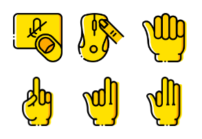 Smashicons Hand Gestures - Yellow - Vol 1