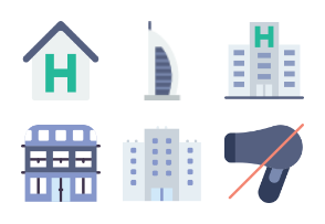 Smashicons Hotel Services - Flat - Vol 1