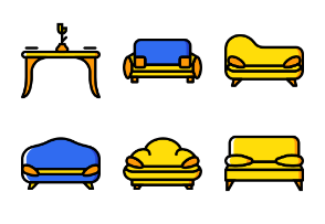 Smashicons Households - Yellow - Vol 3