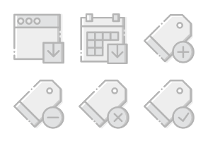 Smashicons Interactions - Greyscale - Vol 4