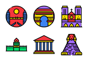Smashicons Monuments - Cartoony