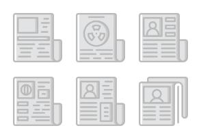 Smashicons News & Media - Greyscale - Vol 1