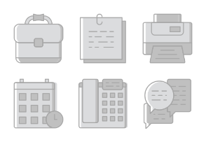 Smashicons Office - Greyscale - Vol 2