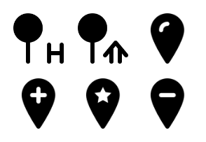 Smashicons Pins & Locations MD - Solid