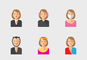Smiley Woman Avatars