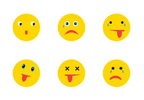Smileys Emoticon Emoji Flat Color