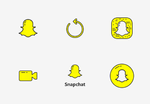 Snapchat UI - Colored