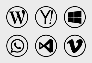 Social Icons - Circular Color