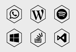 Social Icons - Hex Grey