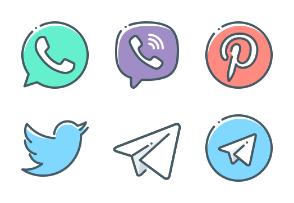 Social media and logos
