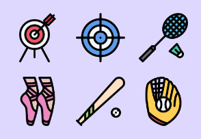 Sports Equipment Colored