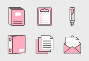 Stationary Mono Color - Pinky Pencil