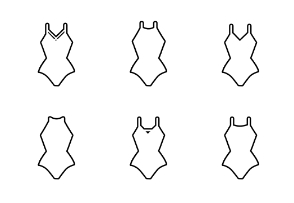 Swimsuits - Outlined