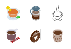 Tea and Coffee - isometric