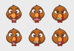 Thanksgiving Turkey Emoji Cartoons