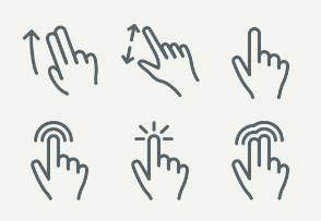 Thin: Touch gestures