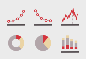 Flat Tiny Charts and Graphs