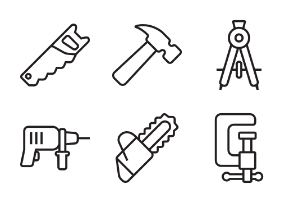 Tools & Equipment - Thick outline