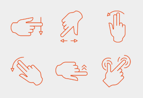 Touch gestures