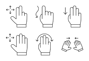 Touch Screen Gestures line