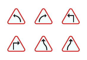 Traffic Signs Flat Colorful