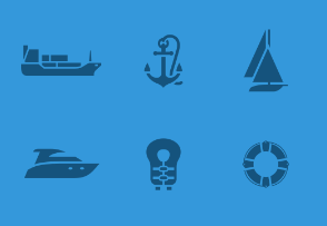 Transport 05 - Set of Ships and boats icons