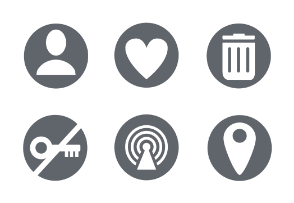 UI Glyph circle collection 002