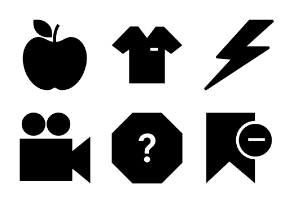 Universal Mobile Solid Icons Vol 5