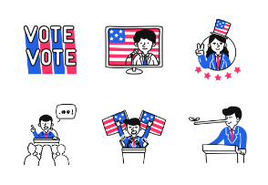 US Election 2020 Illustrations