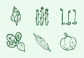 Vegetable Set Hand-draw style