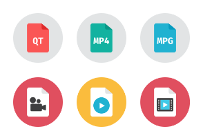 Video Files Icons - Rounded