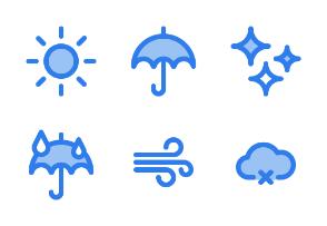 Weather (Blue Filled Line)