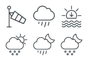 Weather - Stroke Icons