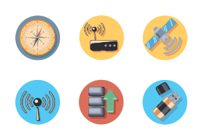 Wireless icons in circle
