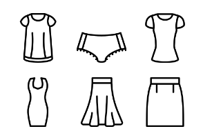 Womens Clothing Outline Collection