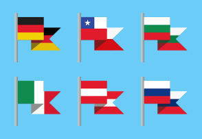 World Country Flat Flags