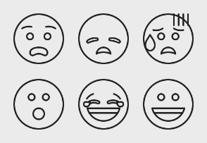 Zaficons: Smiley Outline