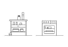 Kitchen furniture / outline